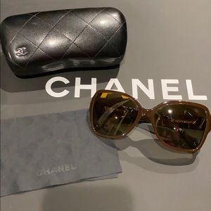 Chanel Butterfly Sunglasses In Brown